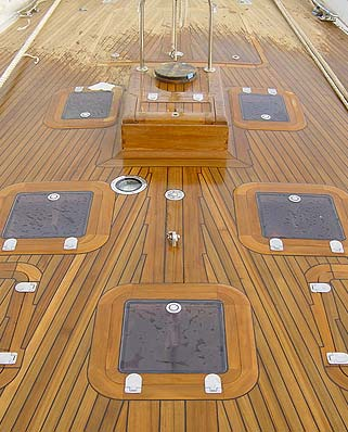 New teak decks and marine carpentry